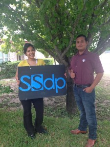 SSDP Northwest Vista College chapter with founder Rafael Gonzalez