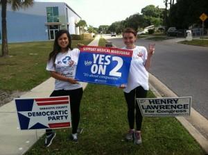 New College of Florida SSDPers Victoria Jara and Eilis Ryan