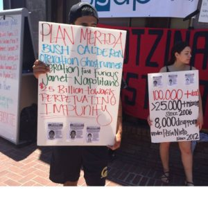 Students at the University of California Berkeley raise public awareness about the disappearances.