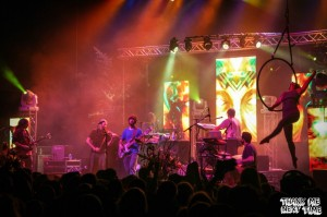 "(Papadosio performing their song ""Paradigm Shift"" with Dixon of Dixon's Violin backing them up while Jason holds down the visuals.)"