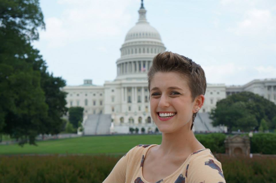 SSDP Tulane Vice President Emma Tuttleman-Kriegler on  Capitol Hill in Washington, DC.