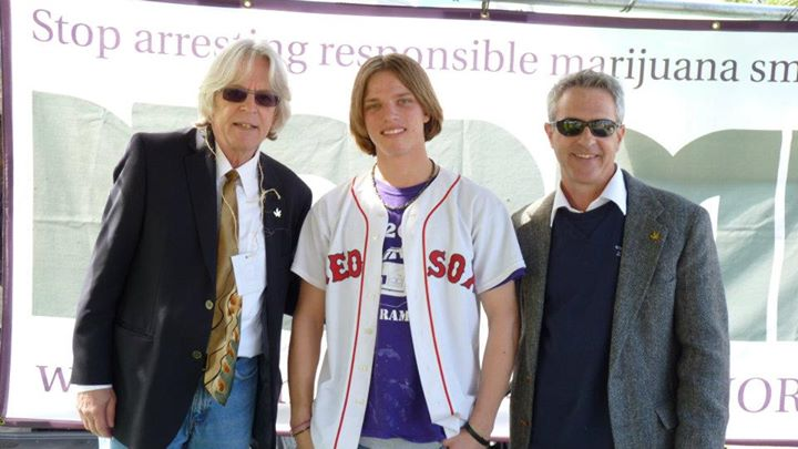 Jackson with NORML Founder Keith Stroup and Executive Director Allen St. Pierre.