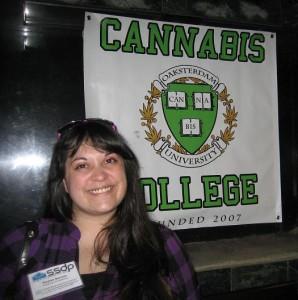 Kaylee at Oaksterdam Tour, SSDP International Conference 2010
