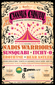 Cannabis Carnival Poster SCREENSHOT