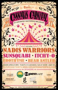 Cannabis Carnival Poster SCREENSHOT