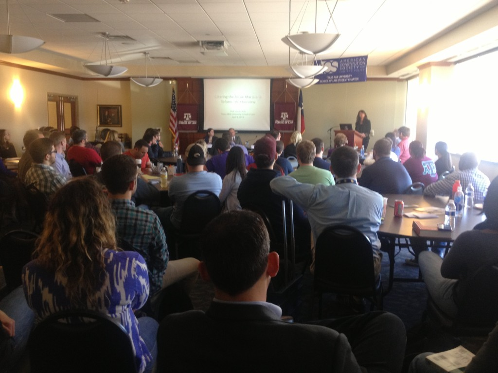 Texas A&M Law's first chapter event: Clearing the Air on Marijuana Reform