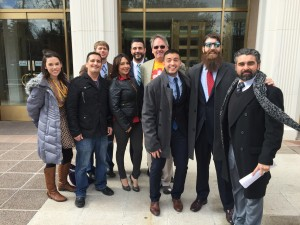 SSDPers lobbying at the New Mexico State capitol, January 2016