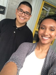 Lalitha Thirunagari (right) and Oliver Zerrudo (left)