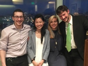 "From left to right: Jeremy ""Jay"" Schwartz (UC Hastings Chapter Leader), Frances Fu (SSDP Staff), Natalie Koski Karrel (UC Hastings Chapter Leader), Jesse Stout (UC Hastings SSDP Alum)"