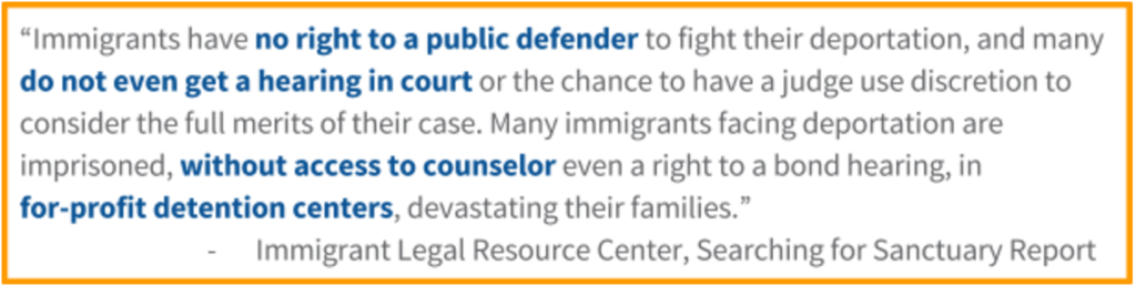 Immigrant Legal Resource Center, Searching for Sanctuary Report