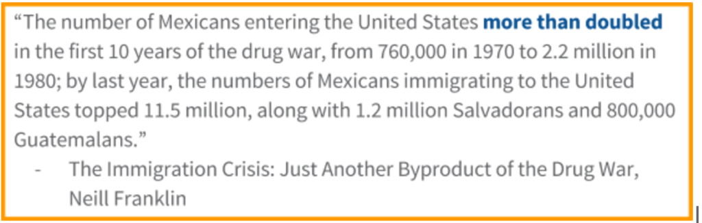 The Immigration Crisis: Just Another Byproduct of the Drug War, Neill Franklin