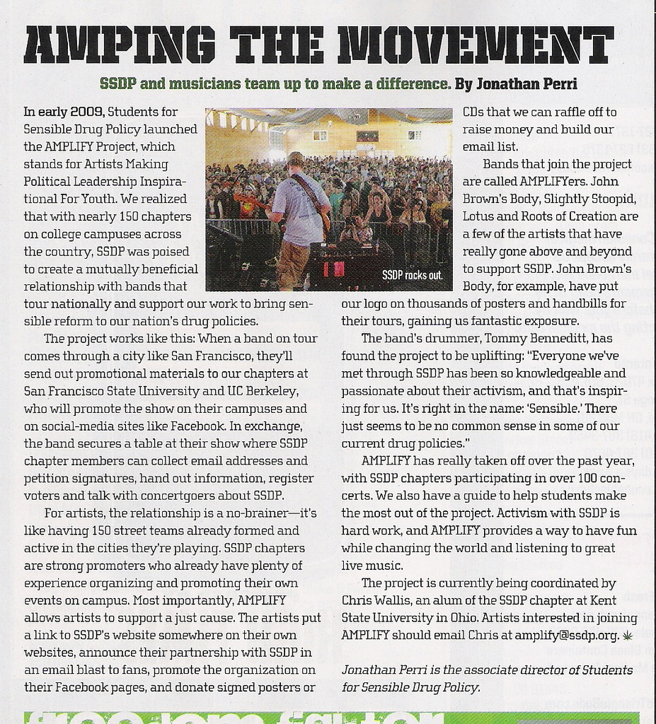 AMPLIFY in High Times Magazine