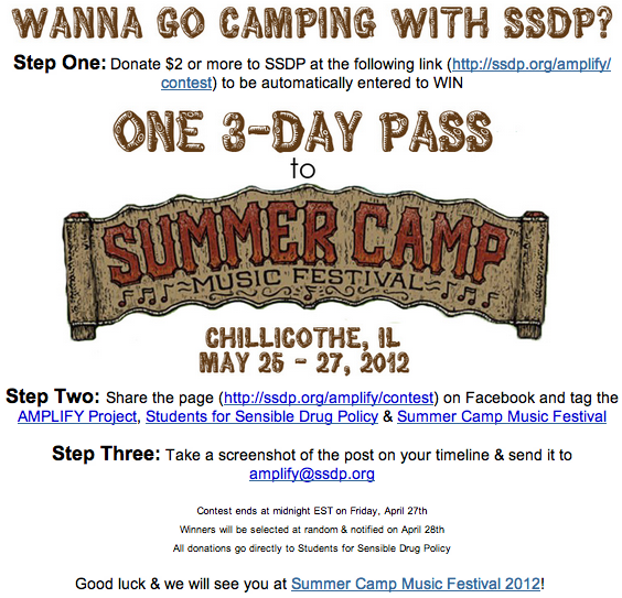 Win a 3-Day Pass to Summer Camp Music Festival By Donating to SSDP