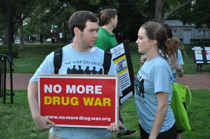 Stephen and Stacia at the DC vigil for victims of the drug war