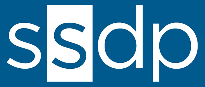 SSDP Logo Blue Just Letters