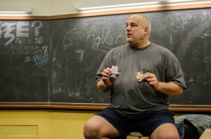 Dan Biggs, of the Chicago Recovery Alliance, discusses naloxone effects on an overdose victim. Photo by Devon Tackels