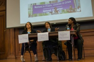 Speaker panel representing Chicago Legal Advocacy for Incarcerated Mothers (CLAIM). Photo by Devon Tackels
