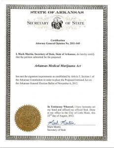 Arkansas Medical Marijuana Act of 2012