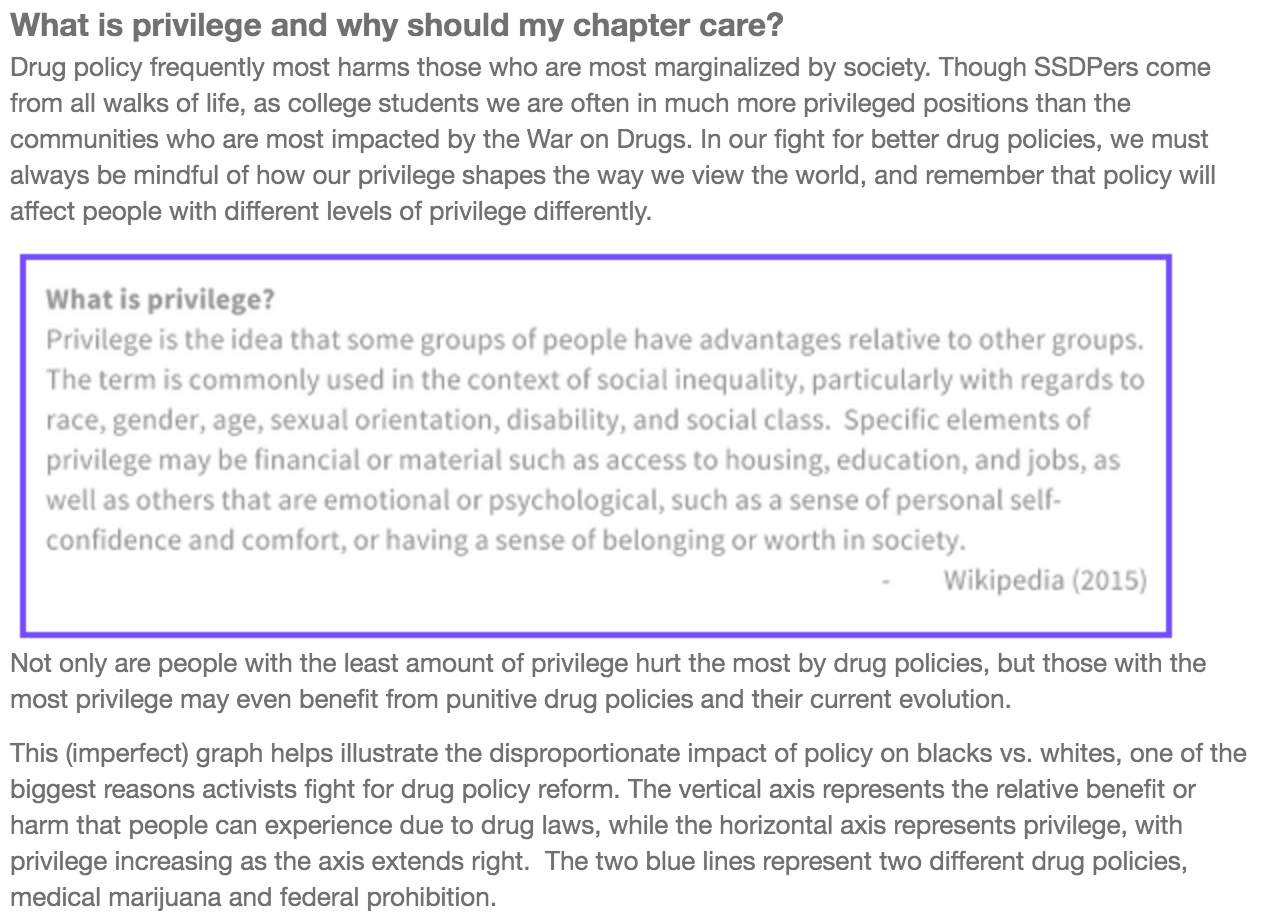 September Monthly Mosaic: Privilege and the Drug War