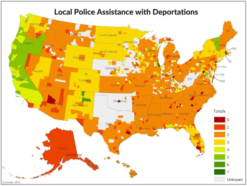 January Monthly Mosaic Immigration And The War On Drugs SSDP - Map of sanctuary cities in us