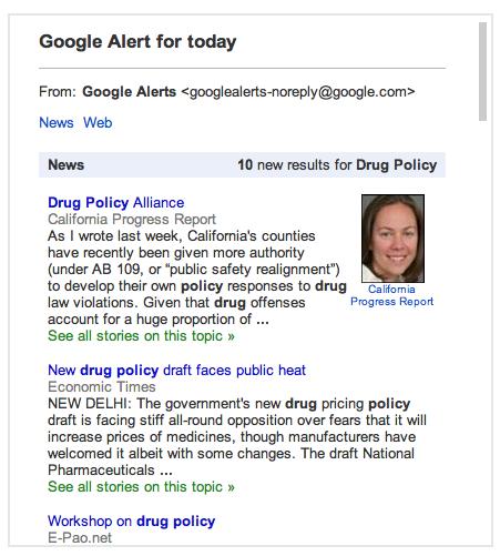 google news alert