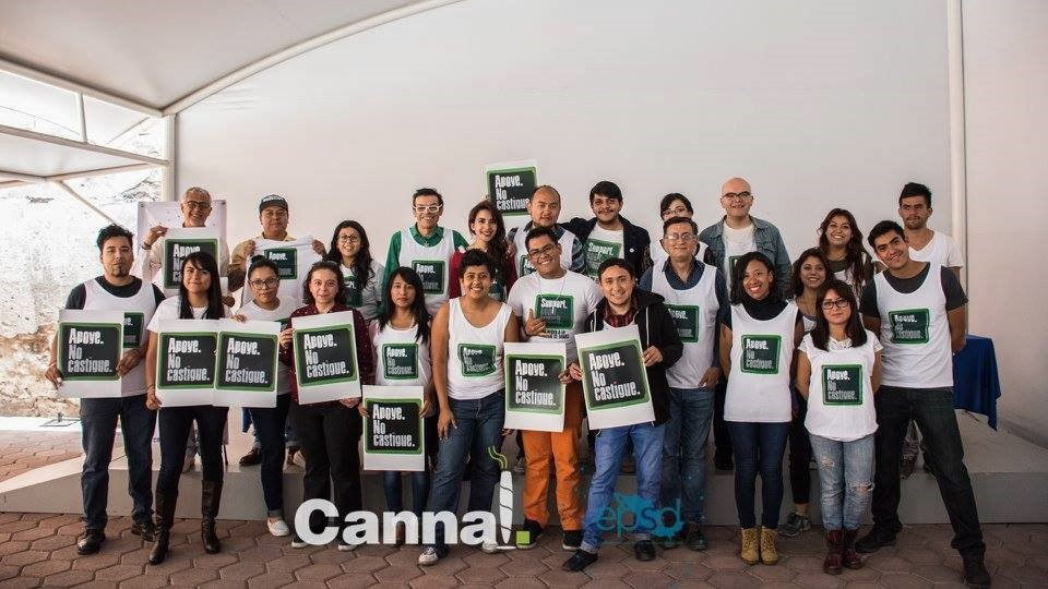 Members of EPSD Mexico celebrate Support Don't Punish