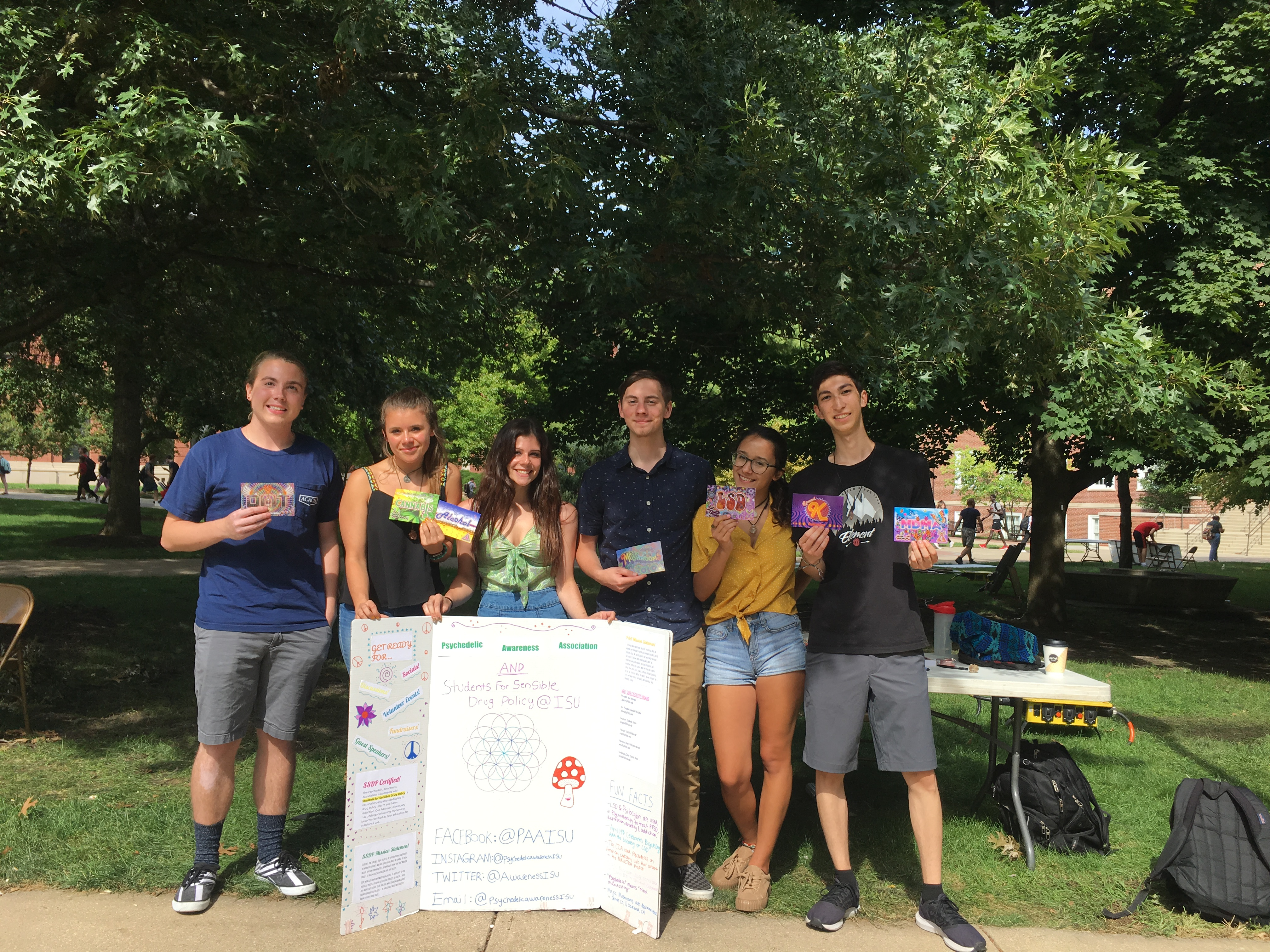 A picture of Illinois State University SSDP Executive Board members