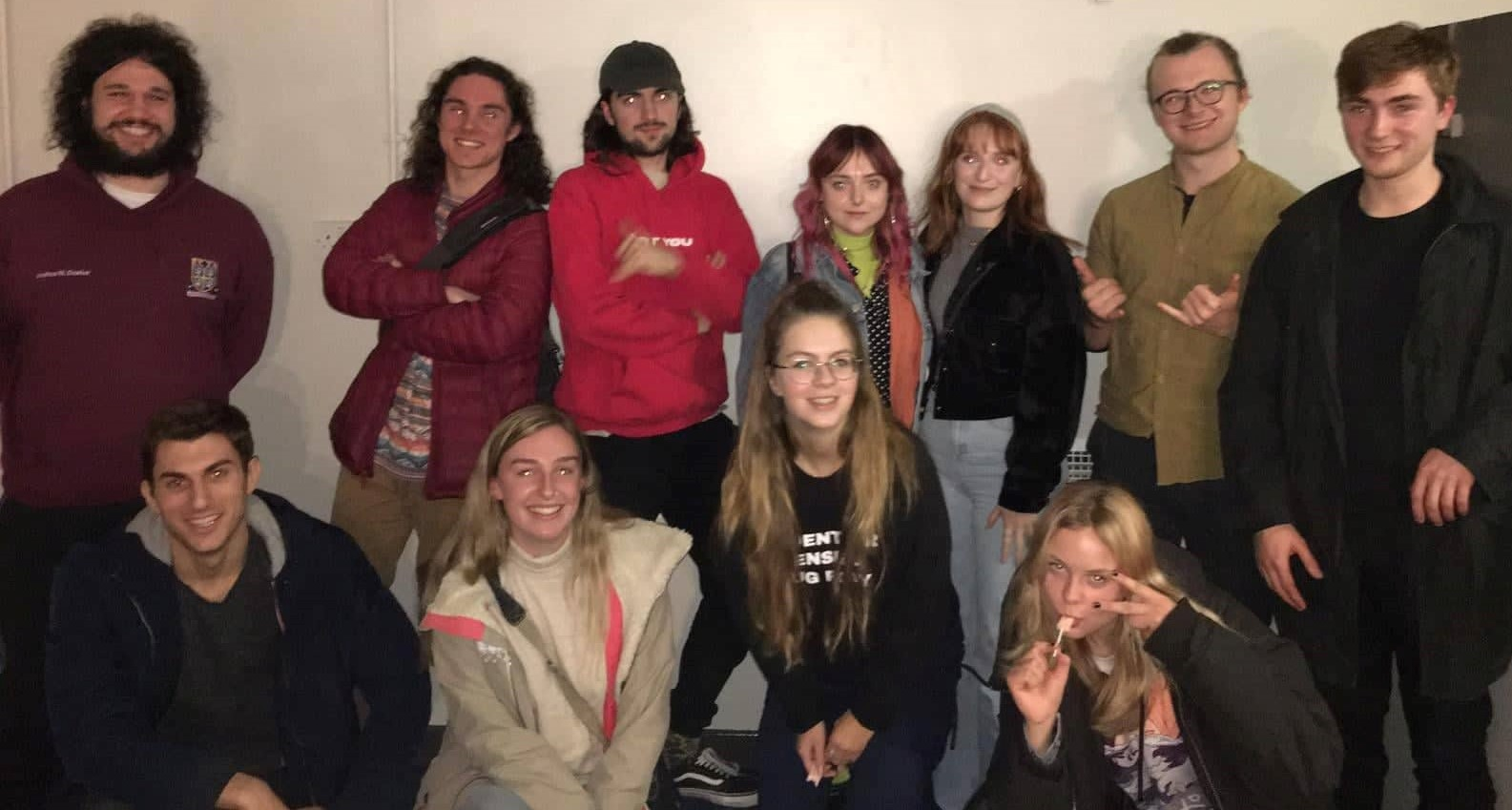 Members of SSDP Durham standing together, after their first meeting of the year.