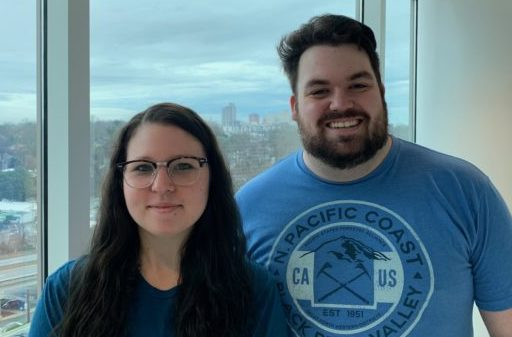 Lindsey Galbo '19 and Aaron Tryhus '19, founders of the Wake Forest University School of Medicine SSDP chapter