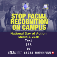 Ban Facial Recognition on Campus Day of Action
