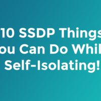 10 SSDP Things You Can Do While Self-Isolating