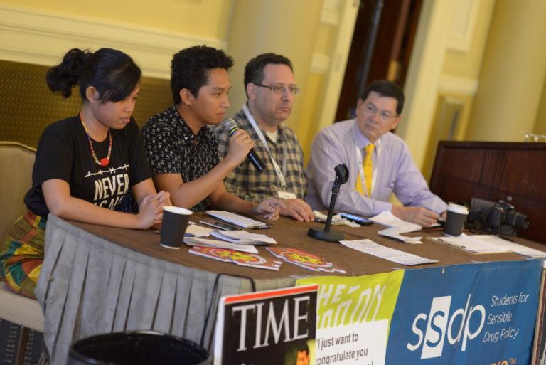 Panelists speaking at SSDP2018