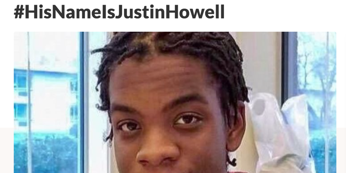 screenshot of Justin Howell GoFundMe page