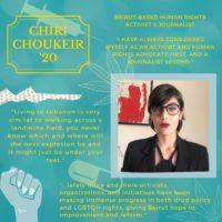 Global Member Highlight: Chiri Choukeir '20