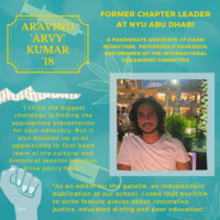 Global Member Highlight: Arvy Kumar '18