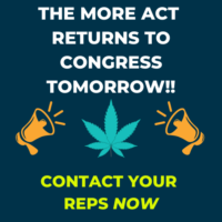 The MORE Act Returns to Congress Tomorrow. Act Now.